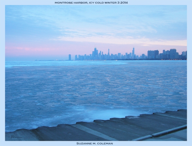 Montrose Point, Chicago, Winter 2013-14.  By Suzanne M. Coleman, all rights reserved.