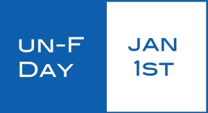 unfriend day fb graphis, Jan 1st with blue border around white