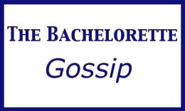 The Bachelorette Gossip, capitals regular font and verdana for %22gossip%22