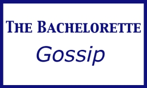 The Bachelorette Gossip, capitals regular font and verdana for %22gossip%22